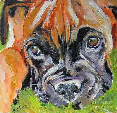 Boxer Pup Print by Debora Cardaci