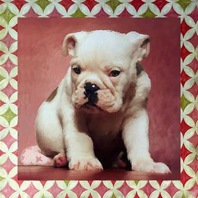 Boxer Puppy Painting Original by Enzie Shahmiri