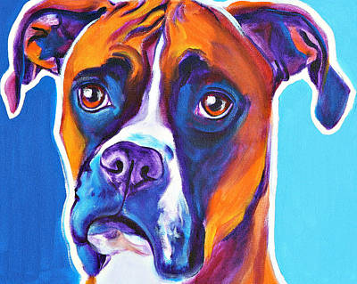 Boxer - Rex Print by Alicia VanNoy Call