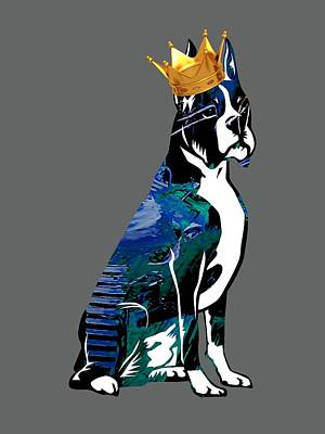 Boxer With Crown Collection Print by Marvin Blaine