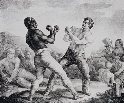Crows Drawing - Boxers by Theodore Gericault