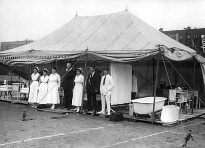 Jack Dempsey Photograph - Boxing Match Field Hospital by Underwood Archives