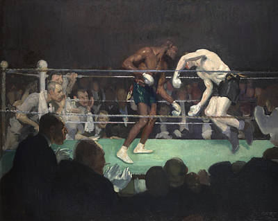 Match Painting - Boxing Match by George Luks
