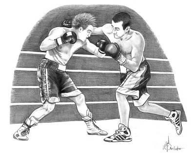 Boxing Match Original by Murphy Elliott