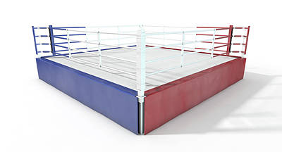 Boxing Ring Modern Isolated Print by Allan Swart