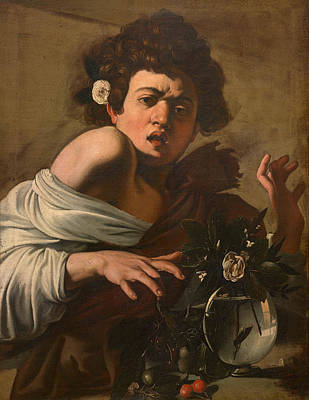 Caravaggio Painting - Boy Bitten By A Lizard. Version 2 by Caravaggio