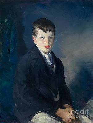 Blue Coat Painting - Boy In A Blue Coat by Celestial Images