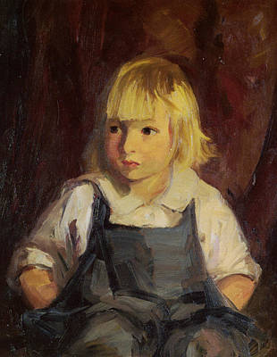 Boy In Blue Overalls Print by Robert Henri