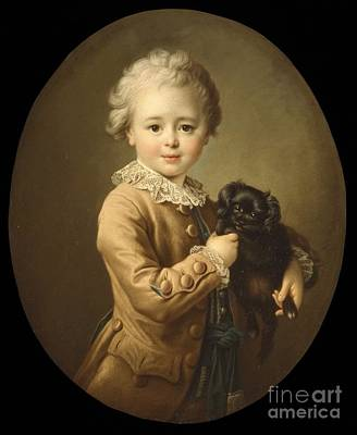Boy With A Black Print by Franois Hubert