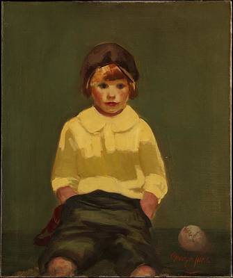 Baseball Painting - Boy With Baseball by MotionAge Designs