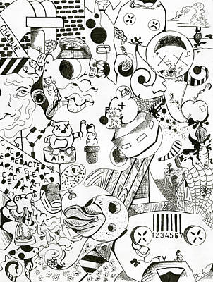 Surrealism Drawing - Boyhood by Calvin Scott