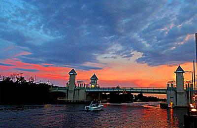 Boynton Beach Bridge Nightfall Original by Allan Einhorn