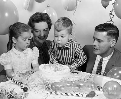 Boys Second Birthday Party, C.1950s Print by H. Armstrong Roberts/ClassicStock