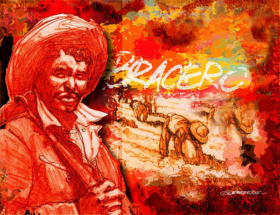 Tomato Mixed Media - Bracero by Dean Gleisberg