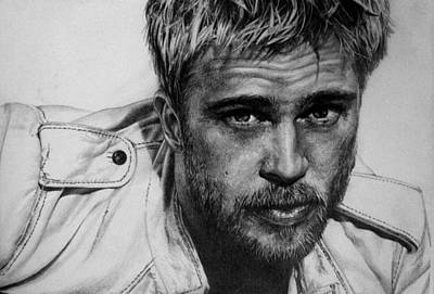 Celebrity Drawing - Brad Pitt by Jennifer Bryant