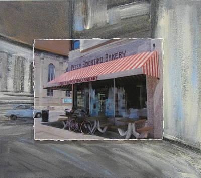 Brady Street - Peter Scortino Bakery Layered Original by Anita Burgermeister