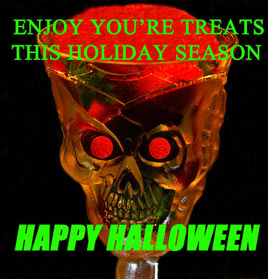 Brain Desert Halloween Card Print by David Lee Thompson