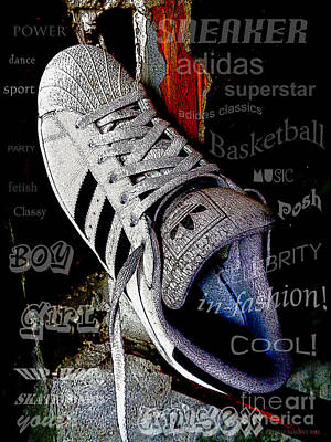 Brainstorming On A Sneaker Print by Don Pedro De Gracia