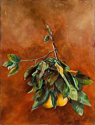 Branch Of Grapefruit Original by Jolante Hesse