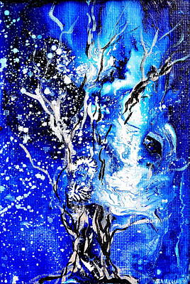 Abstract Painting - Branching Spirit by Regina Valluzzi