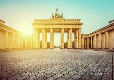 Brandenburg Gate Sunrise Print by JR Photography