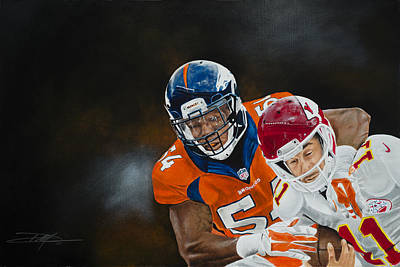 Brandon Marshall Print by Don Medina