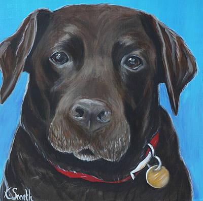 Chocolate Labrador Retriever Painting - Brandy by Kirsten Sneath