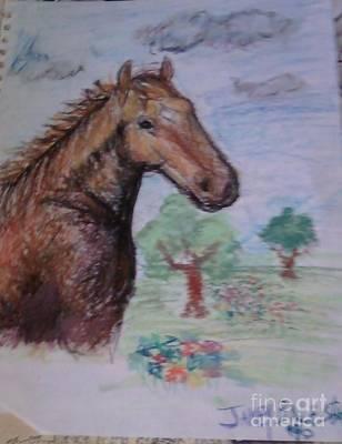 Brandy The Horse Print by Jamey Balester