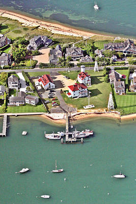 Brant Point Coast Guard Station Nantucket Harbor 2 Print by Duncan Pearson