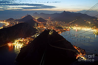 Photograph - Brasil,rio De Janeiro,pao De Acucar,viewpoint,panoramic View,copacabana At Night by Juergen Held