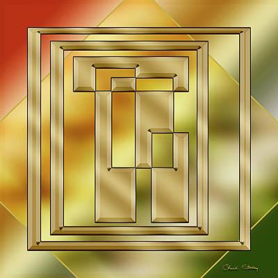 Digital Art - Brass Design 8 - Chuck Staley by Chuck Staley