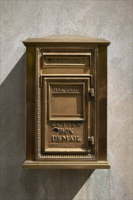 Mail Box Photograph - Brass Mail Box Nyc by Robert Ullmann