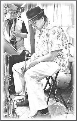 Live Jazz Quartet Photograph - Brass by Matthew Heller