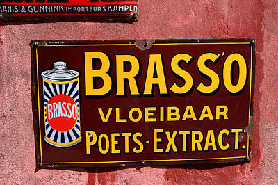 Brasso Photograph - Brasso Advertising Sign by Aidan Moran