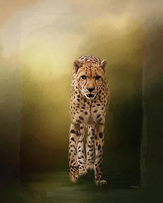 Jordan Painting - Brave Enough - Cheetah Art by Jordan Blackstone