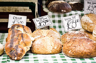 Granary Photograph - Bread Stall by Tom Gowanlock