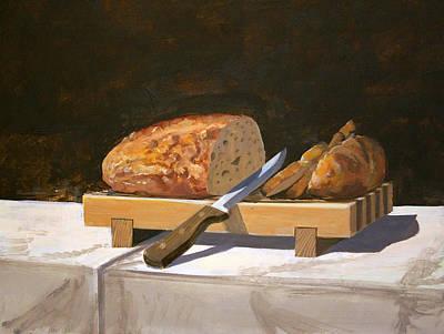 Breadboard Still Life Original by Werner Pipkorn