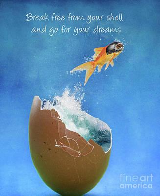 Goldfish Photograph - Break Free by Juli Scalzi