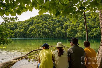 Pause Photograph - Break From The Beauties, Plitvice Lakes, Croatia by Sinisa CIGLENECKI