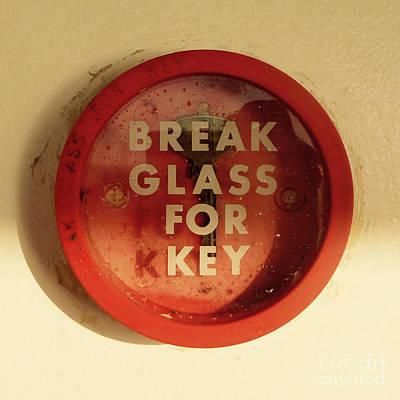 Break Glass For Key Print by Jason Freedman