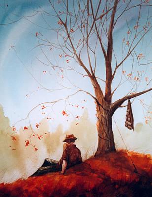 Fly Fisherman Painting - Break Time by Sean Seal