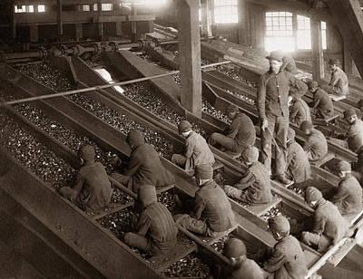 Breaker Boys Lehigh Valley Coal Co Maltby Pa Near Swoyersville Pa Early 1900s Print by Arthur Miller
