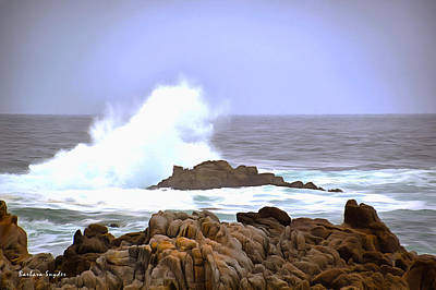 Breaker Wave Monterey California Print by Barbara Snyder