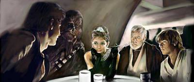 Audrey Hepburn Digital Art - Breakfast At Mos Eisley Cantina by Julianne Black