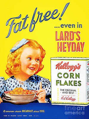 Breakfast Cereal Kelloggs Corn Flakes 20160219 Print by Wingsdomain Art and Photography