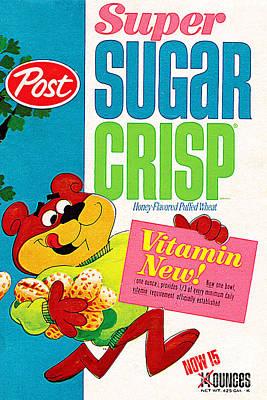 Breakfast Cereal Super Sugar Crisp Pop Art Nostalgia 20160215 Print by Wingsdomain Art and Photography