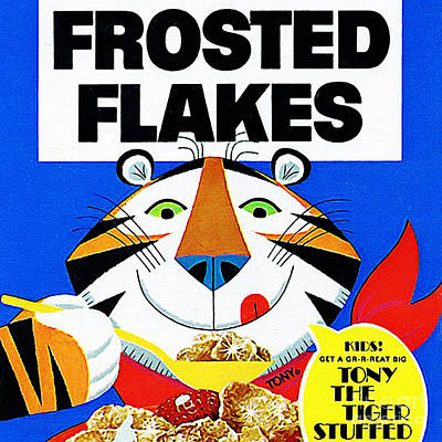 Breakfast Cereal Tony The Tiger 20160215 Square Print by Wingsdomain Art and Photography