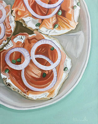 Salmon Painting - Breakfast Delight by Nathan Rhoads