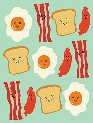 Food And Beverage Digital Art - Breakfast by Nicole Wilson