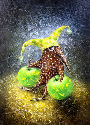 Birdman Painting - Breakfast On The Grass by Lolita Bronzini